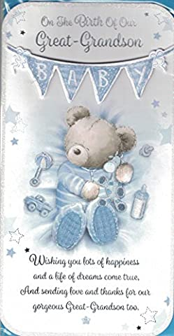 New Baby Great Grandson Card ~ On The Birth Of