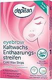 Depilan Eyebrow Wax Strips - 12 strisce di cera a freddo per sopracciglia