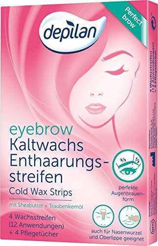 Augenbrauen-wachs-streifen (Depilan Eyebrow Wax Strips, Augenbrauen Kaltwachsstreifen, perfekte Form, 12 Anwendungen)