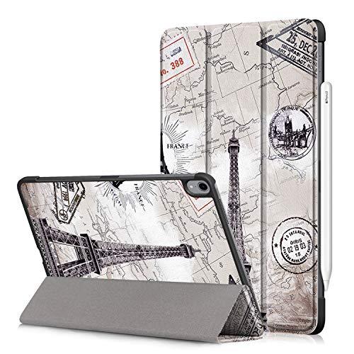 Fmway PU Leder Flip Cover Hülle Case mit Auto Schlaf/Wach und Ständerfunktion Funktion mit für iPad Pro 11 Zoll 2018(Lademodus des Apple Pencils 2nd Gen Wird unterstützt) -