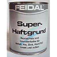 Feidal Super Primer, colore: bianco, protezione antiruggine primer F. metallo, alluminio, zinco, rame, PVC duro, (Industria Primer)