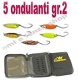 Carson Kit 5 ONDULANTI GR2+ Astuccio Artificiali Pesca Trota Lago Spinning
