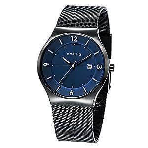 Bering Time - 14440-227 - Montre Homme - Quartz Analogique - Bracelet Acier Inoxydable Noir