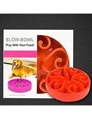 LIANPINGPrueba de estrangulación perro comida lenta comida lenta bol mascotas tazones de fuente . c . m diameter: 20.5cm