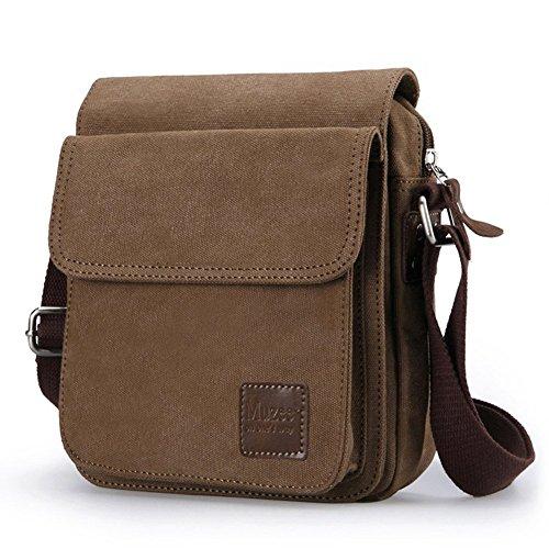 Everdoss Hommes sac de messager en toile sac d'épaule sac à bandoulière sac de loisirs petit style rétro