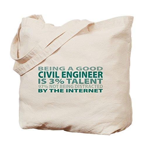 CafePress, gute Bauingenieur–Leinwand Natur Tasche, Reinigungstuch Einkaufstasche Tote S khaki