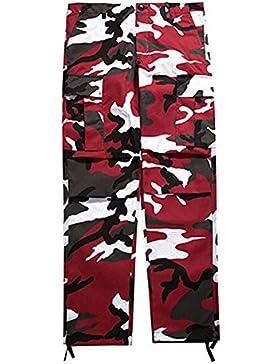 junkai Hip Hop Streetwear Pants Camo Cargo Pants Mujeres para mujeres Baggy Tactical