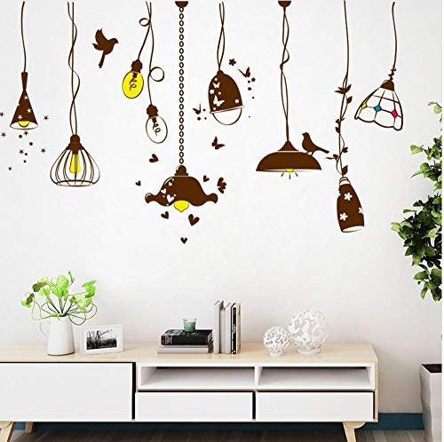 Kronleuchter Wandaufkleber Pvc Material Diy Pendelleuchten Wandtattoos Für Wohnzimmer Schlafzimmer Dekoration Zubehör - Pl Pendelleuchten