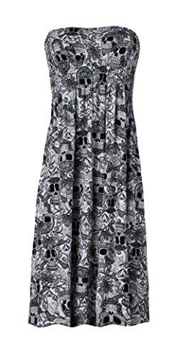 Fast Fashion Damen Oben Plus Größe Azteken Tribal Blumen Tier Leopard Armee Druck Scher Schädel-Druck