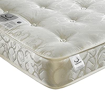 Happy Beds Gold Tufted Luxury Orthopaedic Bonnell Spring Mattress - inexpensive UK light shop.
