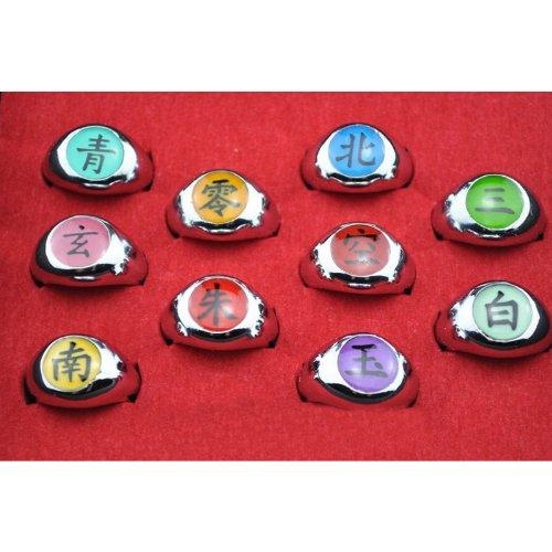 Ring Naruto Ringe / 10 St¨¹ck NARUTO Akatsuki Cosplay Mitglieder-Set Durch Sanlise (Ringe Naruto)