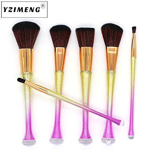 Beauty-Werkzeuge,Daysing Kosmetikpinsel Pinselset Rougepinsel Augenbrauenpinsel Puderpinsel Lidschattenpinsel 6 Stück Make-up Pinsel-Sets