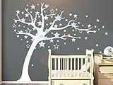 BDECOLL Wandsticker Motiv Baum mit Star | Wandaufkleber, Wandtattoo, Wanddekoration, Wand-Deko –Dekoration fürs Baby-oder Kinderzimmer(Blue)