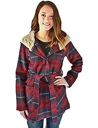 Urban Republic Women's Belt Wrap Shawl Collar Jacket Coat Faux Fur