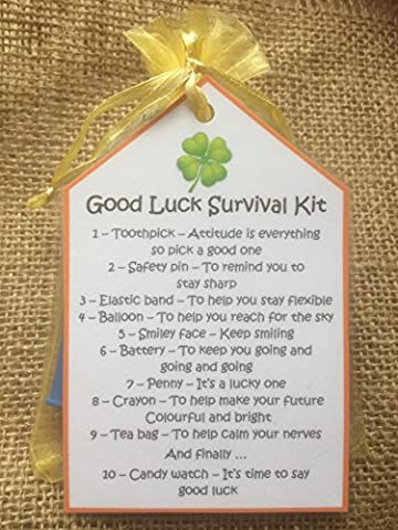 Good Luck Novelty Survival Kit - Perfect gift to wish someone well - A unique and alternative gift!