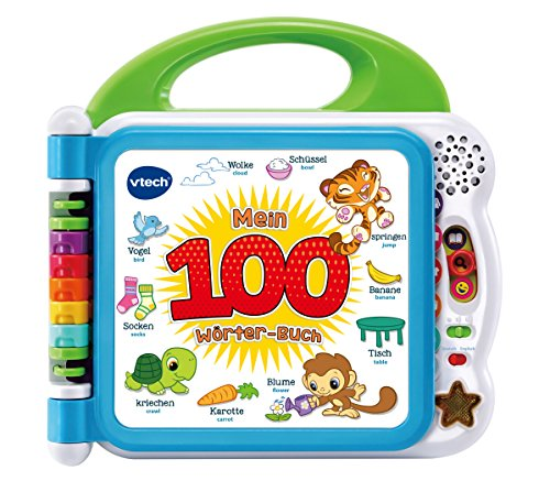 Vtech 80-601504 Mein 100-Woerter-Buch Babybücher, bunt