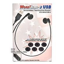 ECS whucusb-a Antimikrobielle wordhear-o USB under-chin Transkription Headset