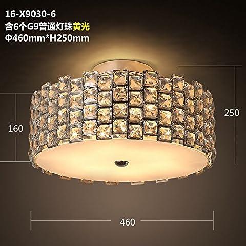 American Crystal Round di luce da soffitto