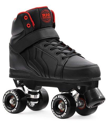 Rio Roller Kicks Quads Rollschuhe Disco Roller schwarz black, 37