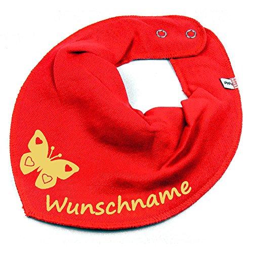 NG mit Namen oder Text personalisiert rot für Baby oder Kind (Personalisierte Schmetterling)