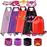 RioRand Disfraces de vestir Dibujos animados 4 capas de satén con máscaras de fieltro y bolso exclusivo para niñas
