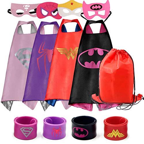 RioRand Dress up Kostüme Cartoon 4 Satin Capes mit Filz-Masken für ()