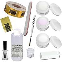 Sun Garden Nails Kit Acrílico Set de introducción - Florenz, Kit Acrilico, Acrilico, Kit de Arcyl, Polvo Acrilico, Liquido Acrilico, Accesorios de acrílico