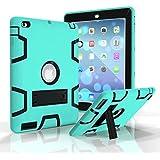 FUQUN Carcasa iPad 2/3/4, iPad 2/3/4 Case Funda 3 en 1 Resistente híbrida con Sporte Carcasa prueba de golpes para Apple iPad 2 3 4