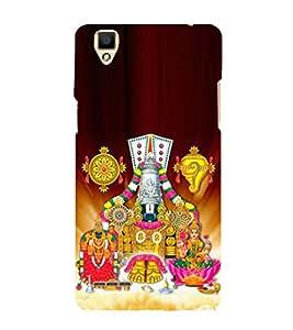 Tirumala Venkanna 3D Hard Polycarbonate Designer Back Case Cover for Oppo F1