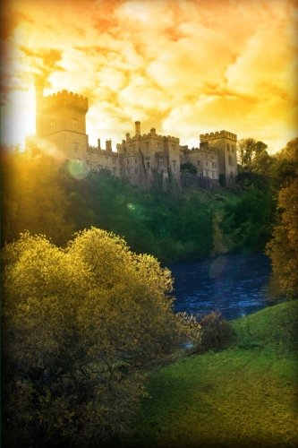 Autumn Sunset Over Lismore Castle Waterford, Ireland Journal: 150 page lined notebook/diary Waterford Castle