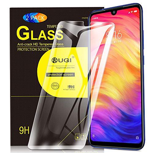 KuGi. für Xiaomi Redmi Note 7/ Redmi Note 7 pro Panzerglas, Xiaomi Redmi 7 Schutzfolie 9H Hartglas HD Glas Blasenfrei Bildschirmschutzfolie passt für Xiaomi Redmi Note 7 smartphone. Klar [2 PACK]