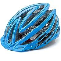MAXTK Casco de Moto para Bicicleta de montaña para Hombres y Mujeres, Equipo de equitación para Bicicleta de Carretera, Azul