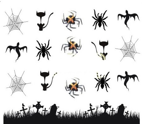 Halloween Cartoon Nagel Aufkleber Dekoration Wasser Transfer Halloween - A1124 Nail Sticker Tattoo - FashionLife