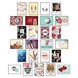 Postkarten Hochzeit - 25 Postkarten Liebe: Postkarten Set Liebe für die Hochzeit als liebevoll gestaltetes Hochzeitsgeschenk mit Sprüchen und Zitaten