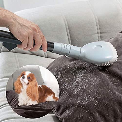 Oramics Profi Staubsaugeraufsatz Tierhaare Universal - Haustierbürste für Staubsauger inkl. 2 Adapter - Katzen und Hunde Bürste für Rohre mit ca. 3-4 cm Durchmesser