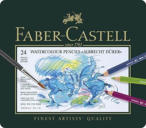 faber-castell-117524-estuche-de-metal-con-24-ecolapices-acuarelables-multicolor