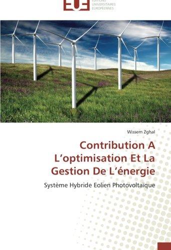 Contribution a l optimisation et la gestion de l énergie
