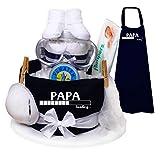 Trend Mama Windeltorte blau Papa Loading. das Geschenk für den werdenden/frischgebackenen Papa
