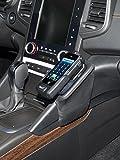 KUDA Console de téléphone (LHD) en similicuir pour Renault Talisman à partir de l'année de construction 2016, noir