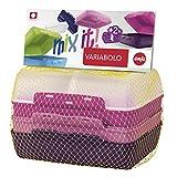 Emsa 517052 Variabolo 4-teiliges Frischhaltedosen Girls-Set, 16 x 11 x 7 cm, beidseitig zu öffnen, platzsparend ineinander stapelbar, rosa