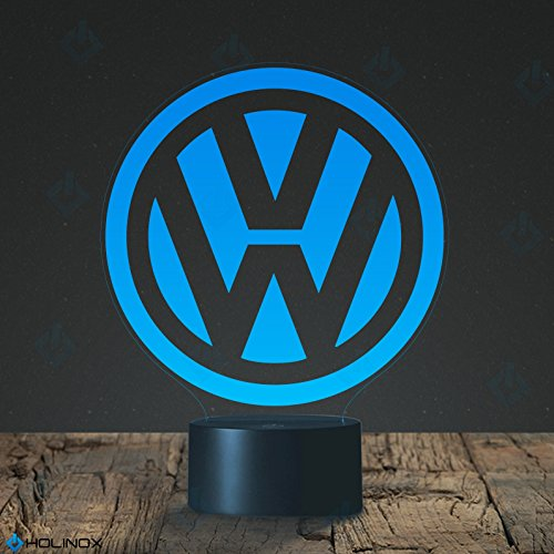 Price comparison product image VOLKSWAGEN Logo Lamp design, Best Gift, Decoration lamp, 7 Color Mode, Awesome gifts (MT016)