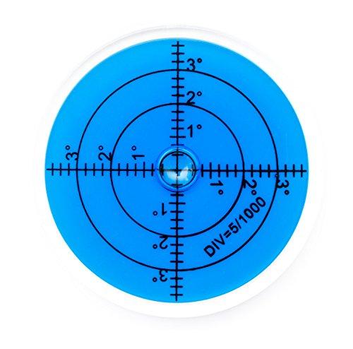 Preisvergleich Produktbild Große Dosenlibelle, Durchmesser 60mm, blau, Plexiglas - hohe Genauigkeit und gute Ablesbarkeit
