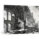 "Cuadro en lienzo: Giovanni Battista Piranesi ""View of the Basilica of Maxentius and Constantine, from the 'Views of Rome' series, c.1760"" - Impresión artística de alta calidad, lienzo en bastidor, 95x65 cm"