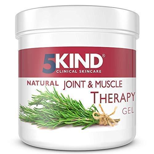 5Kind gel calmante del dolor de Músculos y Articulaciones Antiinflamatorio con resultados demostrados Fórmula única Penetra profundamente Calmante para Músculos Rodillas Articulaciones Manos Espalda