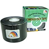 Temtex - Kinesiology tape 5x5 1 ud, talla 5 cm x 5 m, color negro