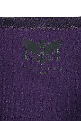 Black Premium by EMP Flowers Gone Manica Lunga Donna Nero/Viola Nero/Viola