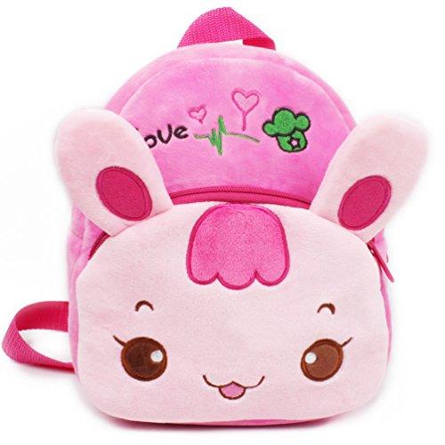 Kaninchen Rucksack, kleine Mädchen Kleinkind Mini Rucksack, URAQT niedlichen Kaninchen bequeme weiche Tasche, Geschenk für 1-2 Jahre alte Kinder für Outdoor / Sports / Camping / Picknick Rucksäcke (Mädchen Rucksack Mini)