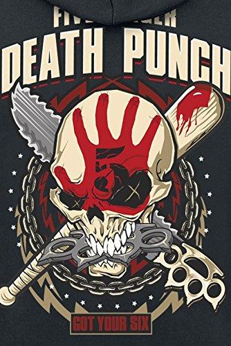 Five Finger Death Punch Got Your Six Kapuzenjacke schwarz Schwarz
