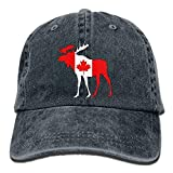 Unisex Baseball Cap Moose Canadian Flag Summer Jean Trucker Hat Men Cool caps