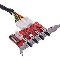 Eboxer Vierkanal-HDD-Stromsteuerungsschalter Festplattenlaufwerkselektor SATA-Laufwerkswechsler Festplattenlaufwerk-Wahlschalter